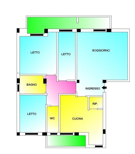 Putignano 2000 Appartamento Rifinito, Ottime Condizioni, Primo Piano 4 Vani.